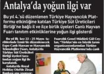 İzmir Canlı Hayvan Fuarı'na Antalya'da Yoğun İlgi Var